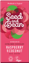 Seed & Bean Organic Raspberry & Coconut Dark Chocolate 85g